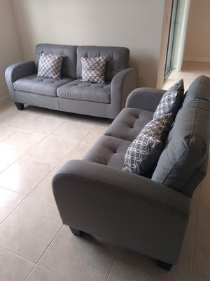 New Beautiful Grey Sofa and Love Seat: Delivery Available for Sale in Davenport, FL
