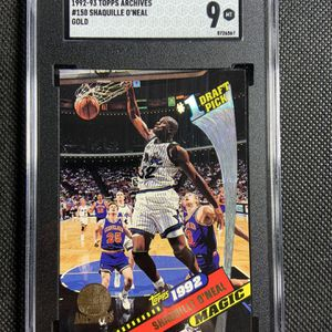 1992-93 Topps Archives GOLD Shaquille O'Neal Sgc 9 Mint Orlando Magic LA Lakers Mvp HOF 🔥🔥🔥 for Sale in Spring Valley, CA