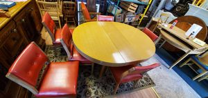 1950's dining table with buffet island for Sale in Bloomington, IL