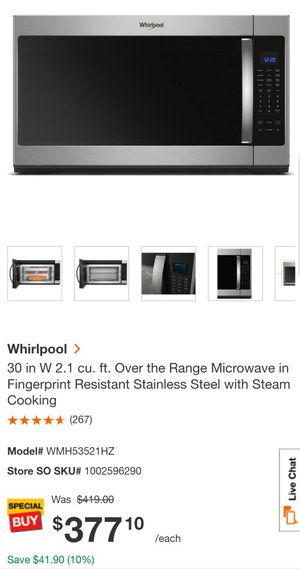 BRAND NEW WHIRLPOOL STEAM MICROWAVE OVEN for Sale in Baltimore, MD