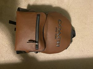 Saddle Brown/Black Copper Coach Academy Backpack for Sale in Cleveland, OH