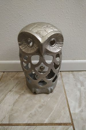 Medium Metal Owl Candle Holder Decor for Sale in Oxnard, CA