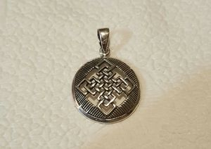 Genuine 1.3x .87 .925 Solid Sterling Silver Celtic Knot Pendant. for Sale in Pawtucket, RI