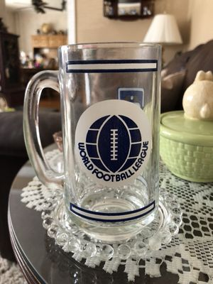 Very old world football league glass mug, 1960' or 1970's? for Sale in Prospect Park, PA