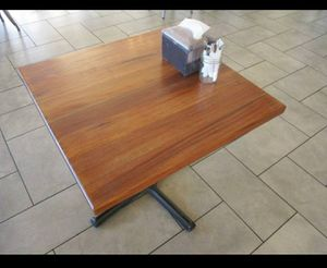 "Metal Dining Table with Wood Tabletop - 32"" X 32"" X 24"" for Sale in Cave Creek, AZ"