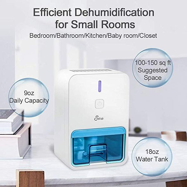 Small Dehumidifier for RV, Portable Mini Dehumidifier for 1800 Cubic Feet Small Room New