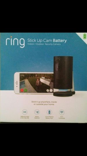New Ring Stick Up Cam Battery Indoor Outdoor Wireless Security Cameran 1080HD Black for Sale in Orange, CA