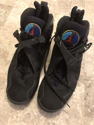 "✅ Air Jordan 8 Retro Black Teal ""Aqua"" Royal Purple Sz. 10 🏀 for Sale in Land O Lakes, FL"