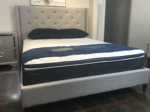 BRAND NEW QUEEN SIZE BED AND PILLOW TOP MATTRESS (FREE DELIVERY) for Sale in Fort Worth, TX