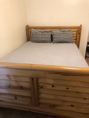 Real Wood Queen Bed, Frame Only for Sale in Spanish Flat, CA