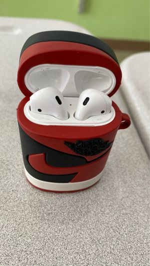 Apple first generation AirPods I used them for about a month but then I upgraded come with a Jordan 1 case for FREE for Sale in Erie, PA