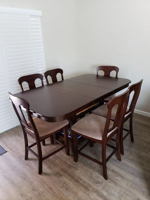Counter height table with 8 chairs for Sale in Martinez, CA