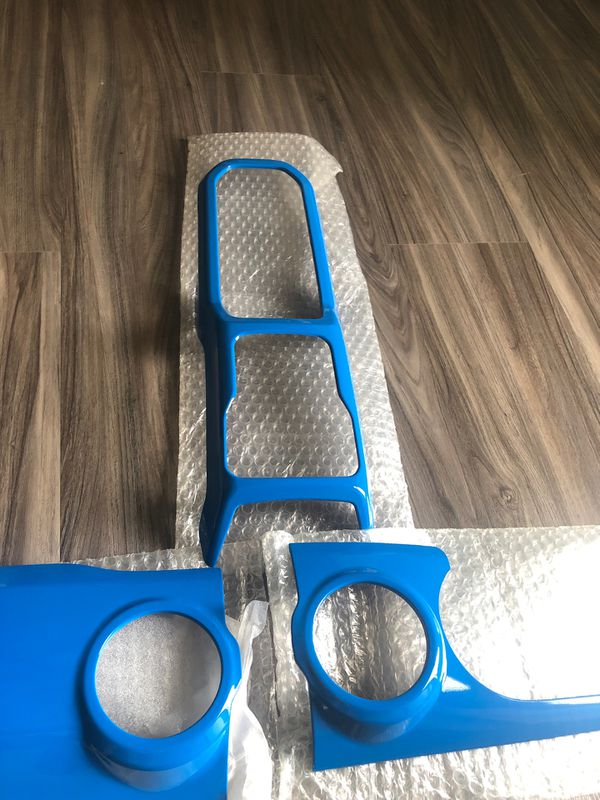 Blue Baby Blue Center Console Interior Trim Dashboard for 2018 2019 2020 Jeep Wrangler JL