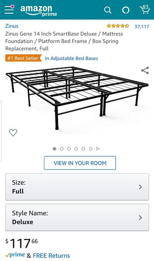 Brand new box never opened full size bed frame!!! Use instead of a box spring! Foothill Ranch area, zip code 92610. for Sale in Tustin, CA