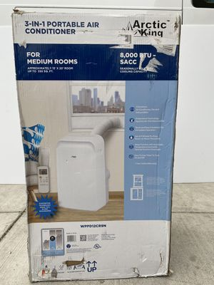 Arctic King 8,000Btu Remote Control Portable Air Conditioner, White WPPD12CR8N for Sale in Compton, CA