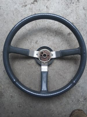 Jeep cherokee Wrangler Cj7 leather wrapped steering wheel for Sale in San Jose, CA
