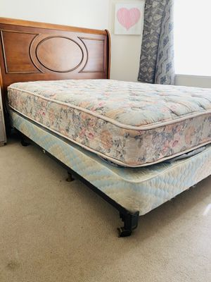 Queen bed/mattress/box/frame, spring air for Sale in Salt Lake City, UT