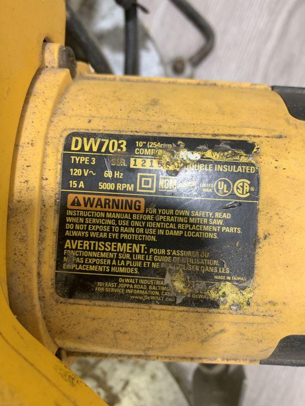 Dewalt Dw703 Heavy Duty 10-inch Compound Miter Saw