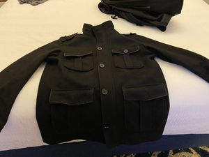 Express men pea coat size large autheenticc like new for Sale in Sacramento, CA