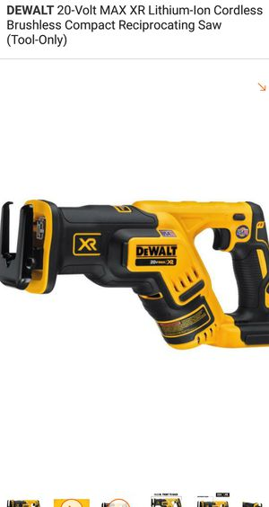 Sawzall 20V XR. TOOL ONLY for Sale in Alexandria, VA