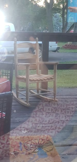 Child's handmade, solud, heavy-duty rocking chair for Sale in Clio, MI