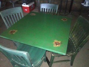 Table & 4 chair's, from Chevy's Restaurant for Sale in Ceres, CA