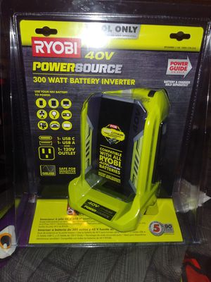 Ryobi. 300 watt Battery Inverter $75 for Sale in Richmond, TX