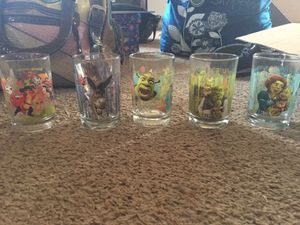 Mc Donald's complete Shrek Glasses collection for Sale in Austin, TX