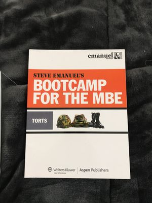 Bootcamp for MBE - Torts for Sale in Erie, PA