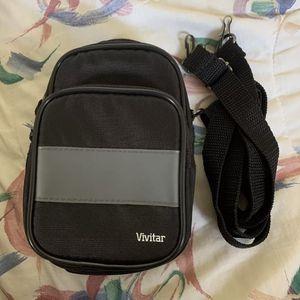 Black Camera Case Vivitar 43 Inch Removable Strap Included 2 Pockets for Sale in Centreville, VA