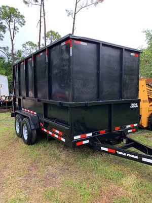 Triple Crown Dump Trailer 7x14x6 for Sale in Loxahatchee, FL