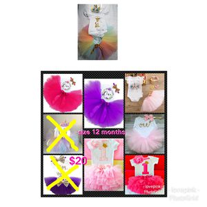 Baby 1st birthday outfit new party tutu dress unicorn new for Sale in Cuyahoga Falls, OH
