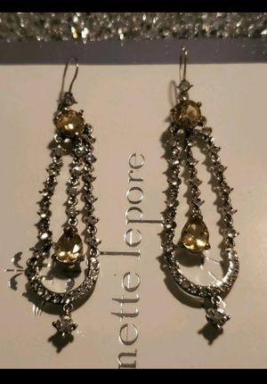 Beautiful CZ White & Yellow diamond earrings for Sale in Columbia, SC