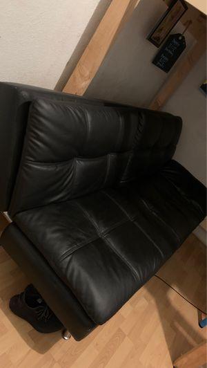 Leather futon for Sale in Pomona, CA