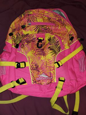 HIGH SIERRA BOOKBAG PINK YELLOW for Sale in Quincy, IL