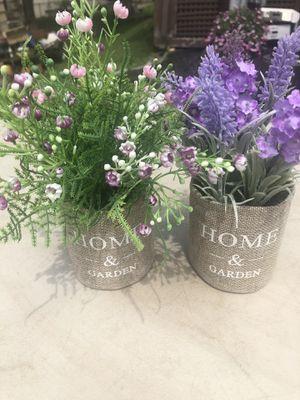 Decorative Lavender potted flower set for Sale in Uxbridge, MA
