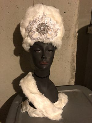 Ice Queen Fur Hat Headpiece for Sale in Bolingbrook, IL