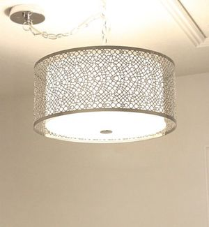 Pendant light chandelier Drum shade for Sale in Snoqualmie, WA