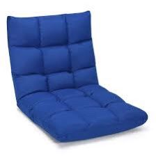 Adjustable 14-Position Floor Chair Folding Lazy Gaming Sofa Lounge Chair Blue for Sale in Diamond Bar, CA