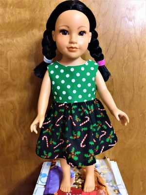 "American Girl Or 18"" inches doll dress Made To Fit 18 inches Dolls Great For Gift For Her, Christmas Stacking for Sale in Peoria, IL"
