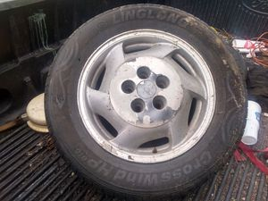 2 aluminum five lug Chevy rim an tires for Sale in Edgar Springs, MO