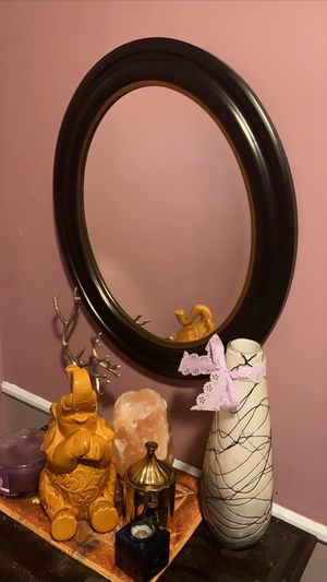Black oval mirror for Sale in Los Angeles, CA