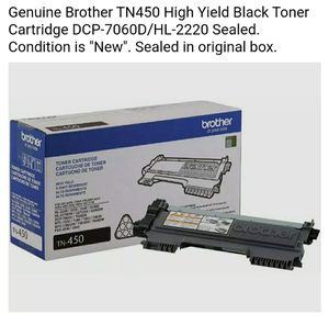 Genuine Brother TN-450 Printer Ink Cartridge High Yield New/Sealed in Box for Sale in Chandler, AZ