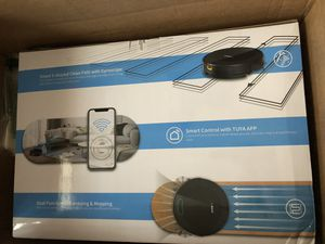 Brand New OPODEE Robot Vacuum and Mop Cleaner, App Control, WiFi-Connectivity, Route Planning, Self-Charging, 1800Pa Max Suction Sweeping Pet Hair in for Sale in Sunbury, OH