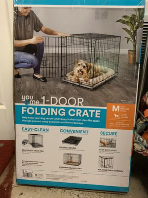 NEW You & Me Medium Folding Dog Crate for Sale in Washington, DC