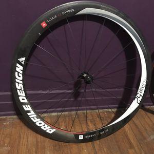 Profile Design Altair 52 Front Carbon Clincher Rim Wheel for Sale in Compton, CA