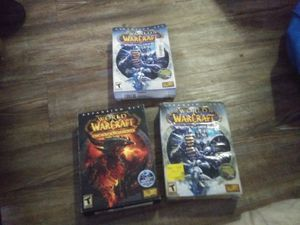 War of Warcraft wrath of lion the Lion kingx2 and World of Warcraft Cataclysm for Sale in Wichita, KS