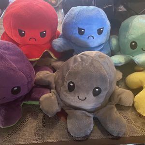 Octopus Plushie Reversible Happy To Sad for Sale in West Covina, CA