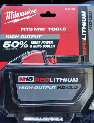 NEW MILWAUKEE M18 HD12.0 BATTERY for Sale in Phoenix, AZ