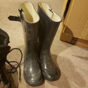 Navy rain boots for Sale in Spokane, WA